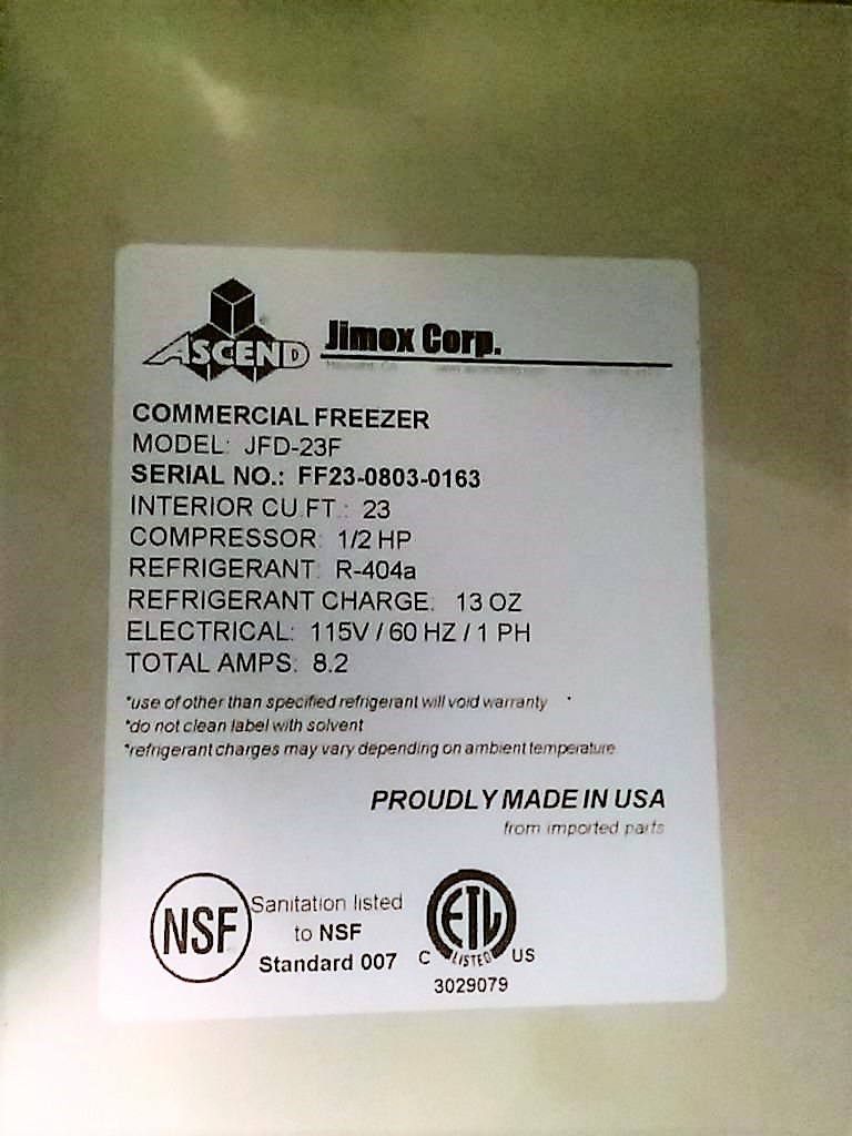 Commercial Upright Freezer Steep Hill Equipment Solutions