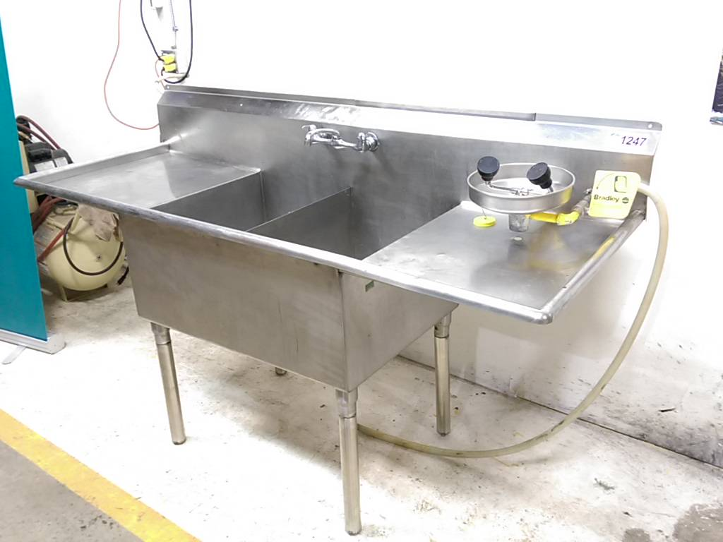 76 Quot X 28 Quot 2 Compartment S S Wash Sink Steep Hill