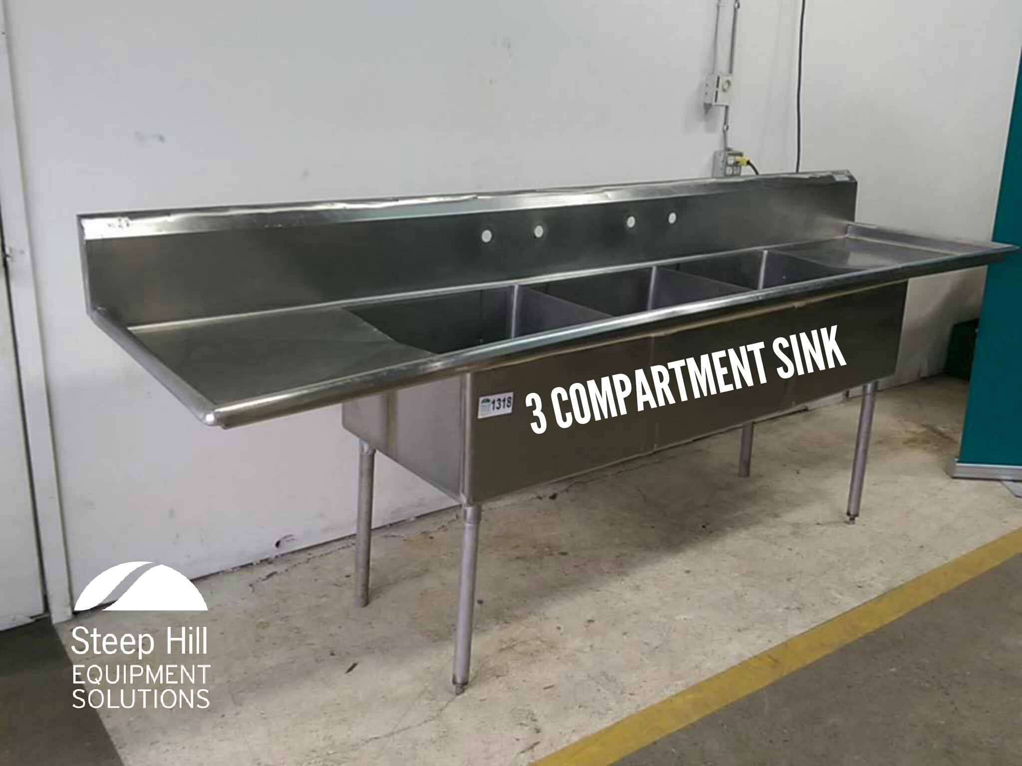 Stainless Steel 3 Compartment Sink