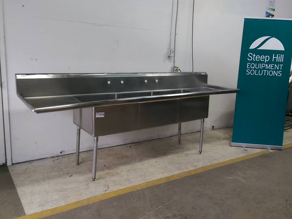 Stainless Steel 3-Compartment Sink | Steep Hill Equipment Solutions
