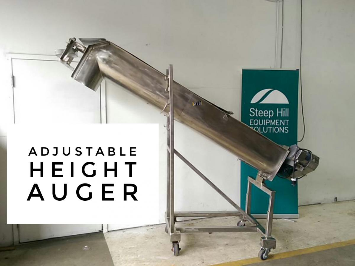 Adjustable Incline Auger Conveyor Steep Hill Equipment Solutions